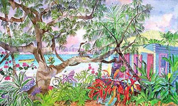 Eileen Seitz Tropical Palm Trees Hello Hibiscus Hibiscus Flowers